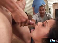 Asian wife banged in front of her asian husband