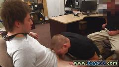 Gay blowjob and swallow for the first time he sells his taut culo for cash