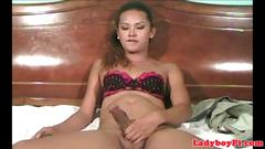 Vintage solo transpinay jerking off