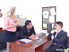 Horny beautiful olivia fox banged balls deep in the office