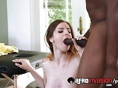 Racy stella cox gets fucked by black cock