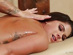 aspen rae, jessa rhodes, two girls, lesbian, kissing, oil, orgasm, massage, grinding, pussy licking, scissoring