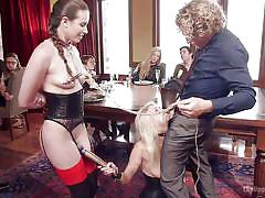 blonde, threesome, bdsm, babe, orgy, deepthroat, vibrator, from behind, nipple clamps, the upper floor, kink, michael vegas, casey calvert, cadence lux