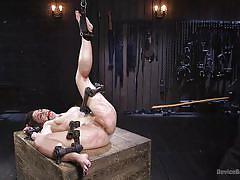 babe, torture, dildo, vibrator, bondage device, ball gag, metal bondage, device bondage, kink, katharine cane, the pope