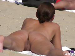 Amateur horny couples naked at nudist beach voyeur video hd