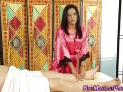 Little masseuse blowjob