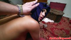 Jihab arab babe enjoying cock on camera pov