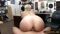 Busty amateur blond stripper nailed by screwed pawn guy