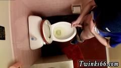 Gay uncut teen piss porn first time with boners spurting out urinate into the bowl one
