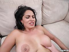 Sexy latina riding cock on the job