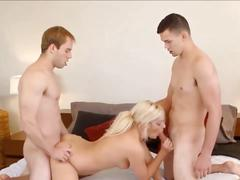 Blonde with two bi guys