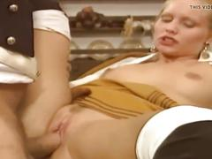 Hairy blonde fuck big cock