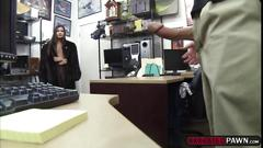 Hot babe fuck for cash in the pawnshop