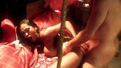 Indian goddess gets hard fuck doggy style in bed