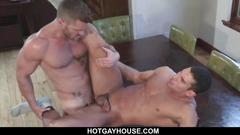 Couple fucks on dinner table
