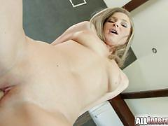 Filling angel snows pussy