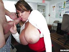 big tits, round ass, blowjob, brunette, office sex, big dick, titjob, natural boobs, boobs groping, big tits, round asses, bangbros, brandy talore, jmac