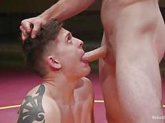 Gay wrestlers prove their muscle