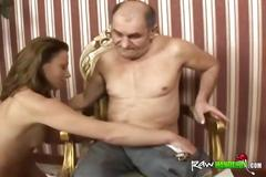Nubile slut gets pussy licked and fucked by partially paralyzed guy
