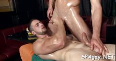 Alluring anal massage naked