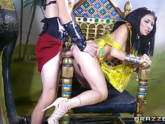 Horny egyptian babe rina ellis banged with massive monster dick