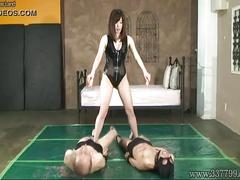 threesome, asian, bdsm, cunnilingus, bondage, slave, japanese, femdom, penis, domina, candle, kinky, wax