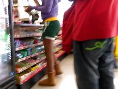 Cute teen legs and ass in shorts