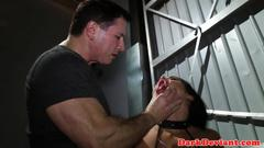 Bdsm submissive deepthroating maledoms cock