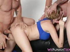 Teen rough group fucked