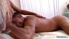 Blonde shemale aubrey kate gets fucked hard by her husband