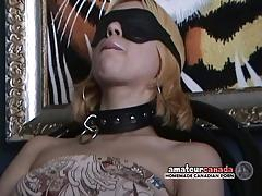 collar, amateur, fetish, first time, blindfolded, skinny blonde