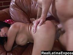 Hot latina fucked in the ass