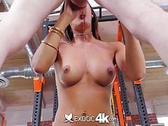 Kinky latina chloe amour fucks big cock in the gym