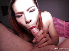 Ladyboy babe takes my meat without a condom