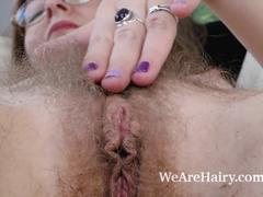 hd videos, hairy, masturbation, matures, sex toys, black, black dildo, chair, dildo chair, masturbates