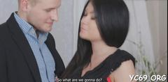 Stunner in stockings likes sex film feature 1