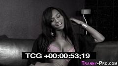 Black tgirl pounds ass