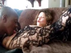 He licks her and watch her squirt