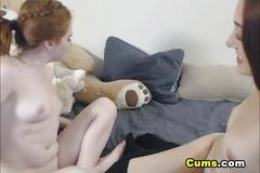 Tongue sucking and pussy licking lesbian chicks