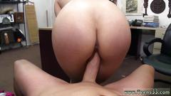 Beautiful blonde gal with a thick ass rides a fine pecker