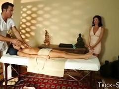 Massaged latina duped cum
