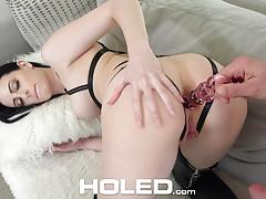 Brunette bondage and anal for alex harper