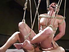 gays, bdsm, tied up, rope bondage, big dick, domination, hanging, anal, anal fisting, bound gods, kink men, brian bonds, trenton ducati