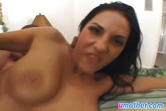 Intense anal pummeling makes sexy brunette mother cum numerous times