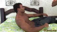 Muscly latino gets sucked
