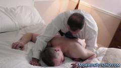 Horny mormon ejaculates