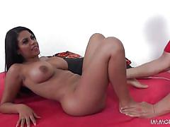 Sexy and erotic latina takes santa's big cock