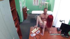 Doctor cummed in mouth of redhead