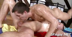 Raucous massage for twink blowjob video 2