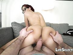 Shona river bouncing on a big cock